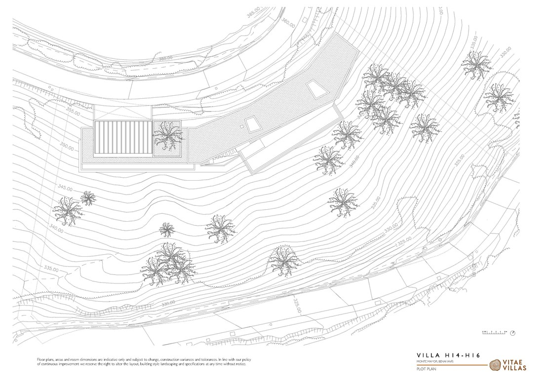 Vitae Villas Spain Andalucia H14_H16 plot plan