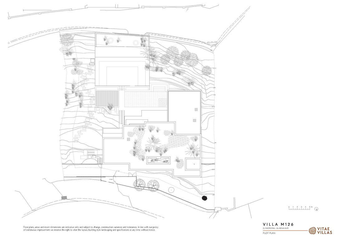 Vitae Villas Spain Andalucia M126 exterior plot plan